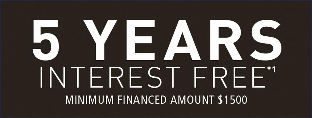 [5 years interest free]