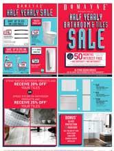 Half Yearly Bathroom and Tile Sale