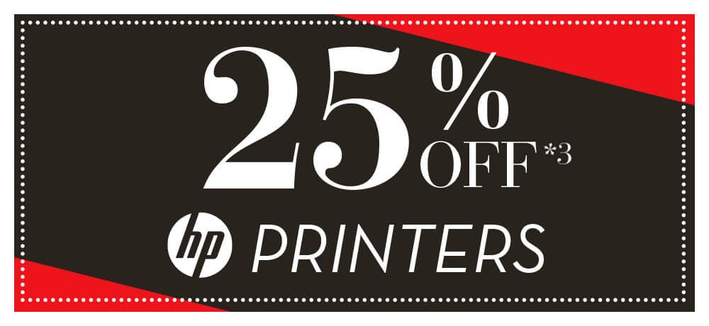 up to 25% off HP printers