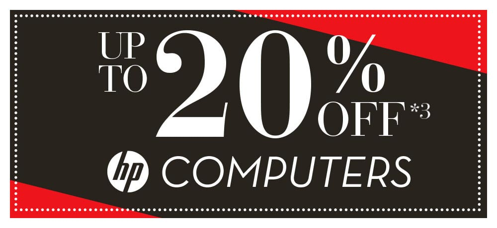 up to 20% off HP computers