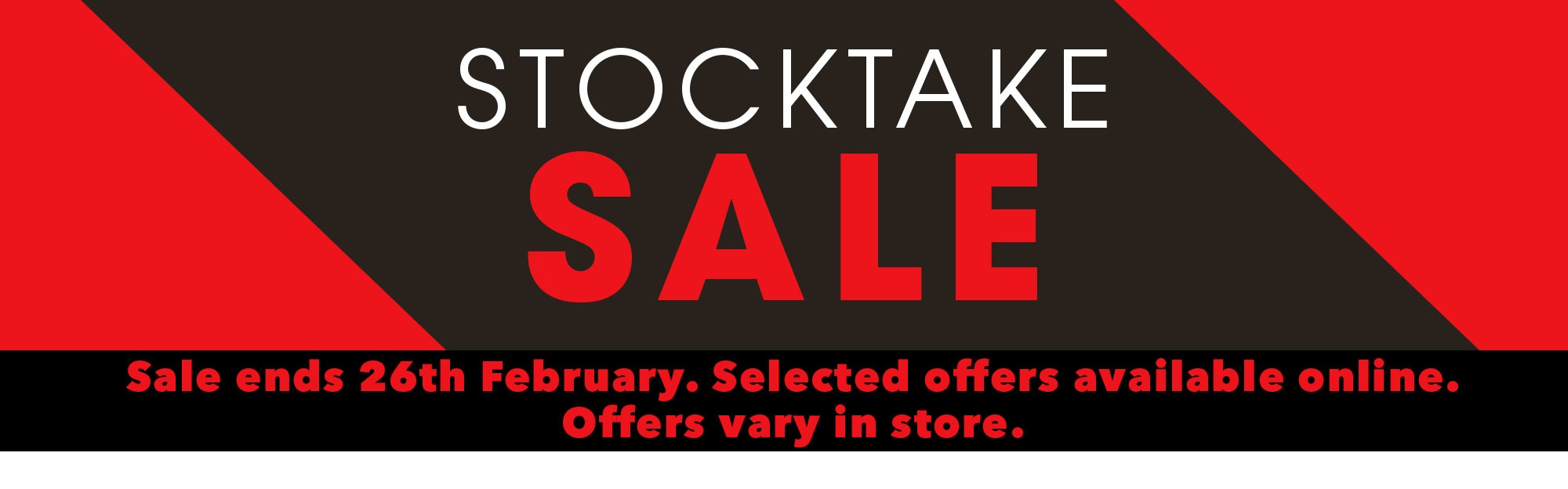 [Stocktake Sale