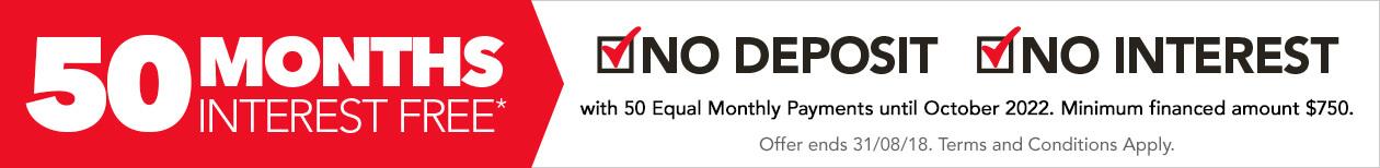 [50 Months Interest Free*]
