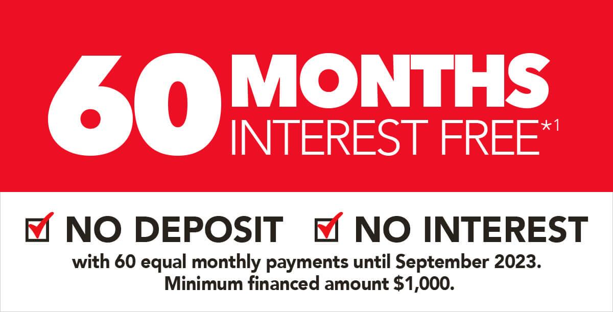 [50 Months Interest Free*1]