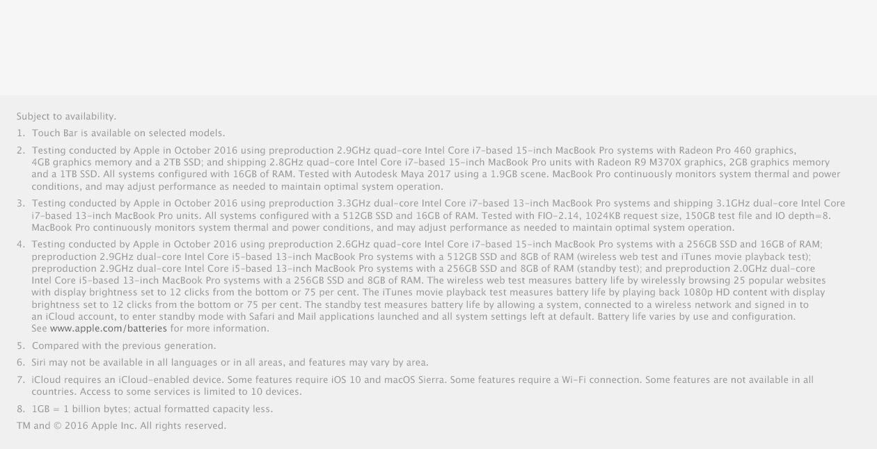 MacBook Pro features 2