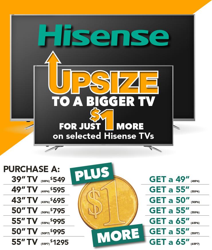 Up-Size Deals on Hisense TVs - Promos - Promos | Harvey