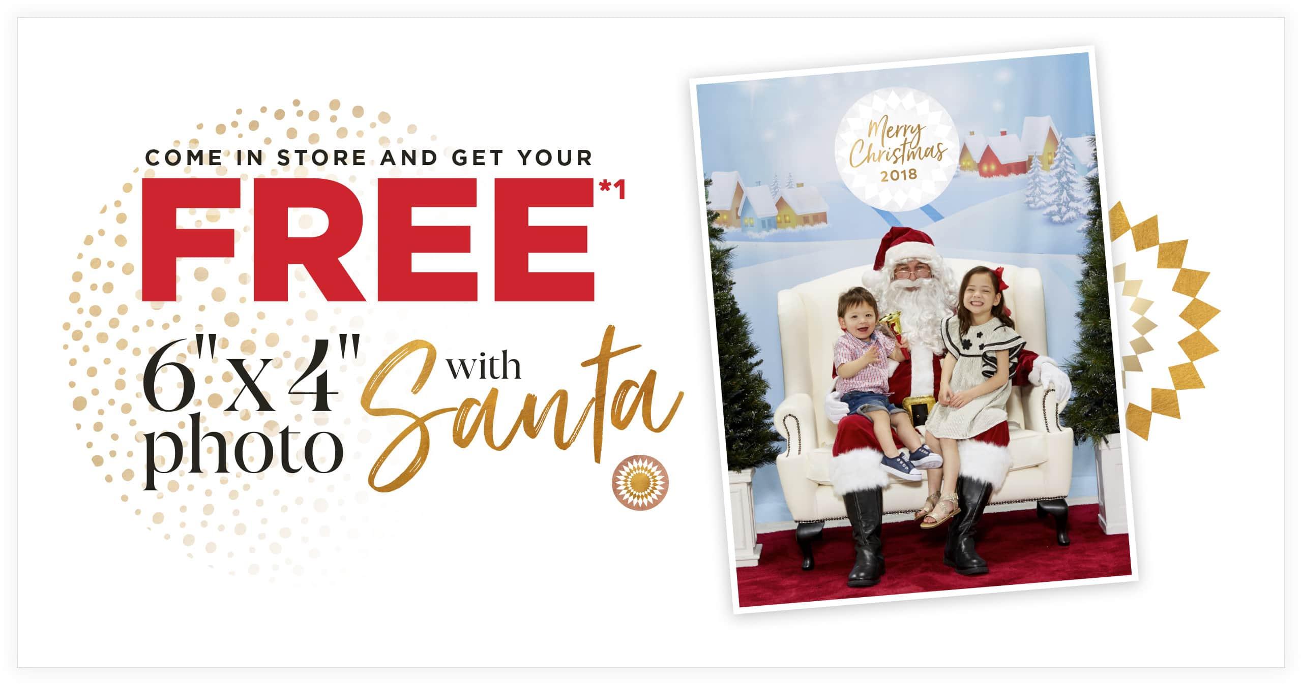Free 6x4 photo with santa