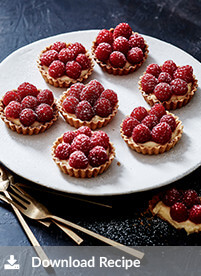 [ Luscious raspberry tarts]