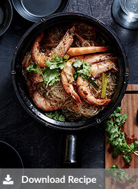 [Prawns baked with vermicelli]