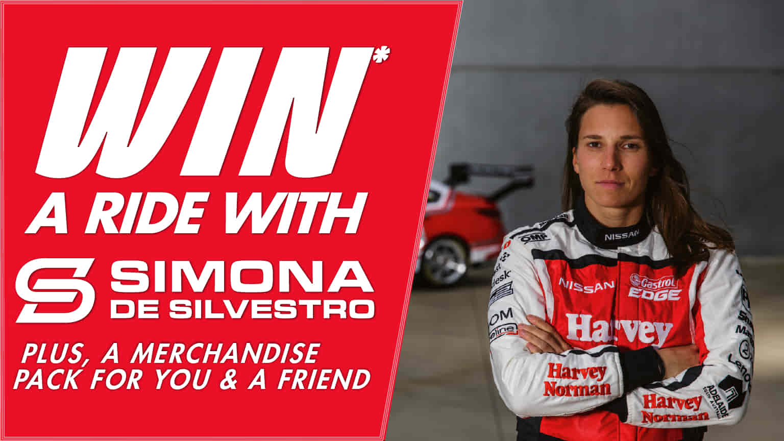Win a ride with Simona De Silvestro