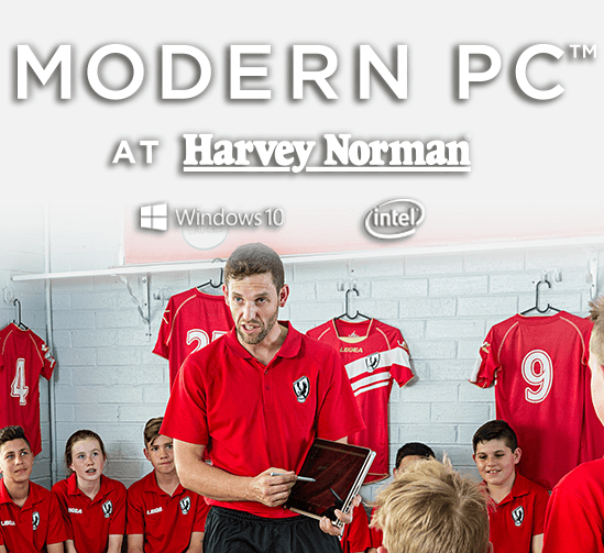 [Modern PC at Harvey Norman]
