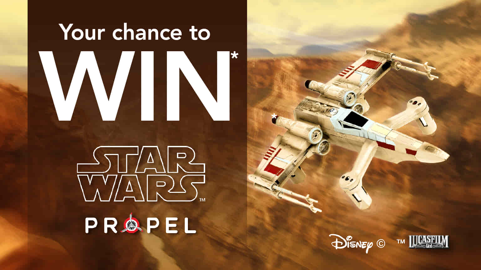 Sign Up & Win Disney Star Wars Laser Battle Drone