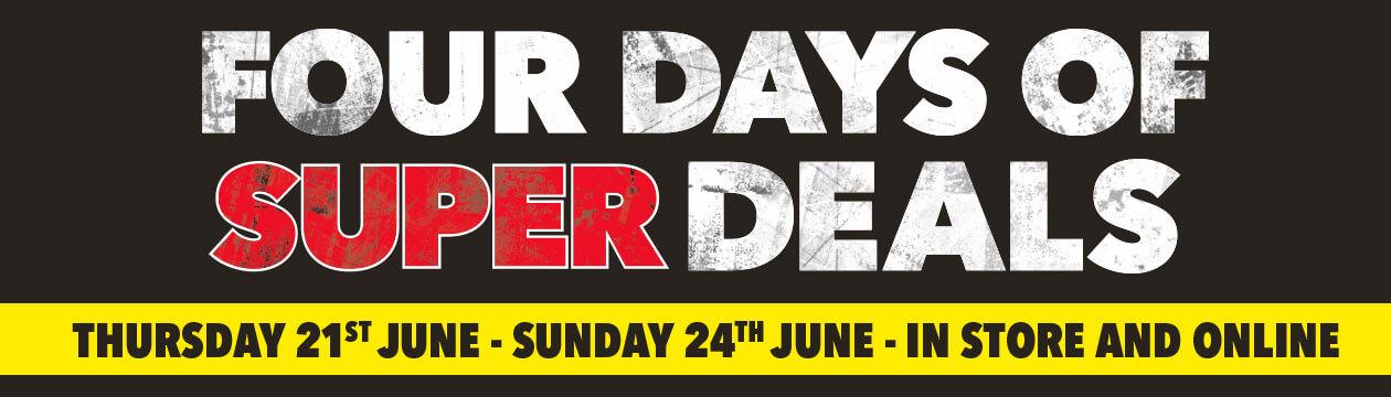 [Four days of super deals]