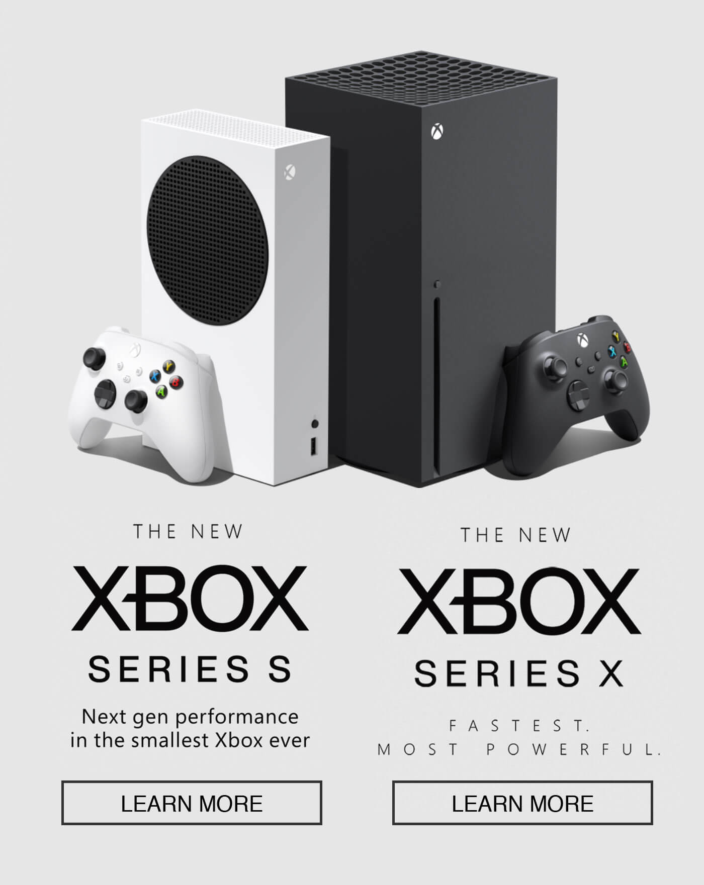 the new xbox series s, the new xbox series x