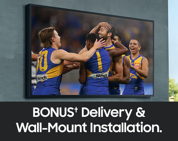 Bonus† delivery & wall-mount installation