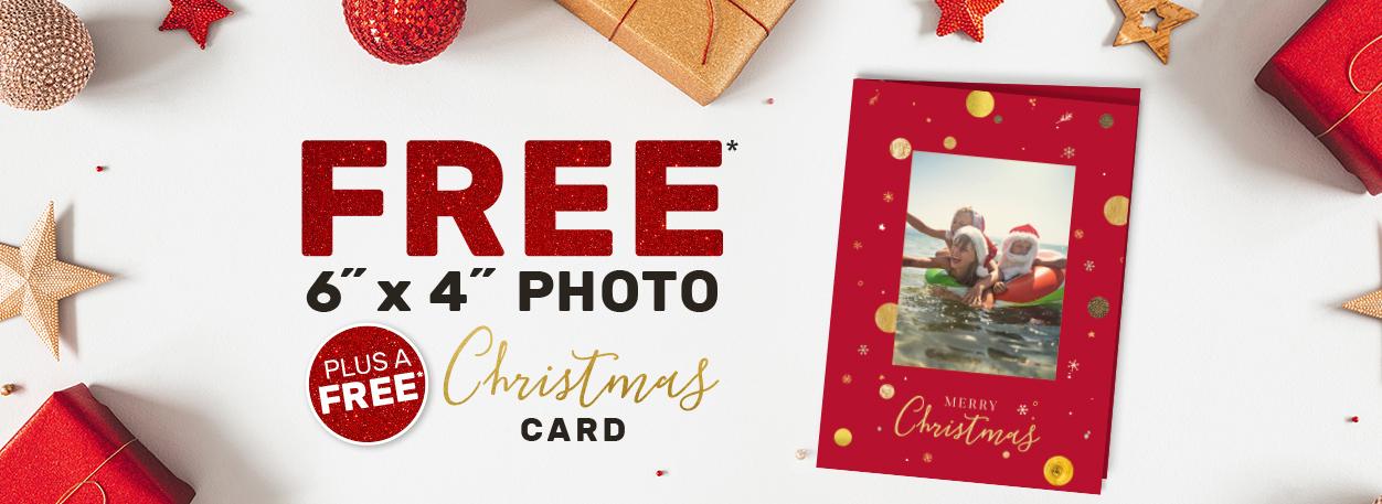 Free 6x4 Photo Plus a Free Card