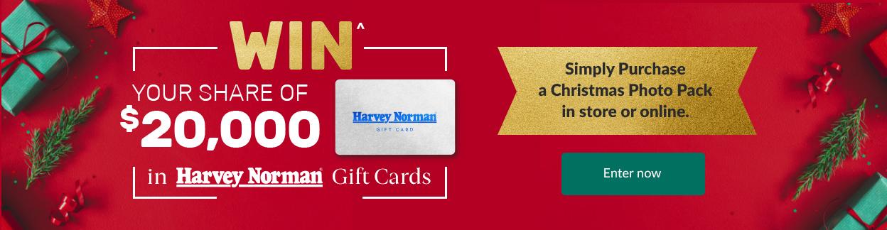WIN a Harvey Norman Gift Card