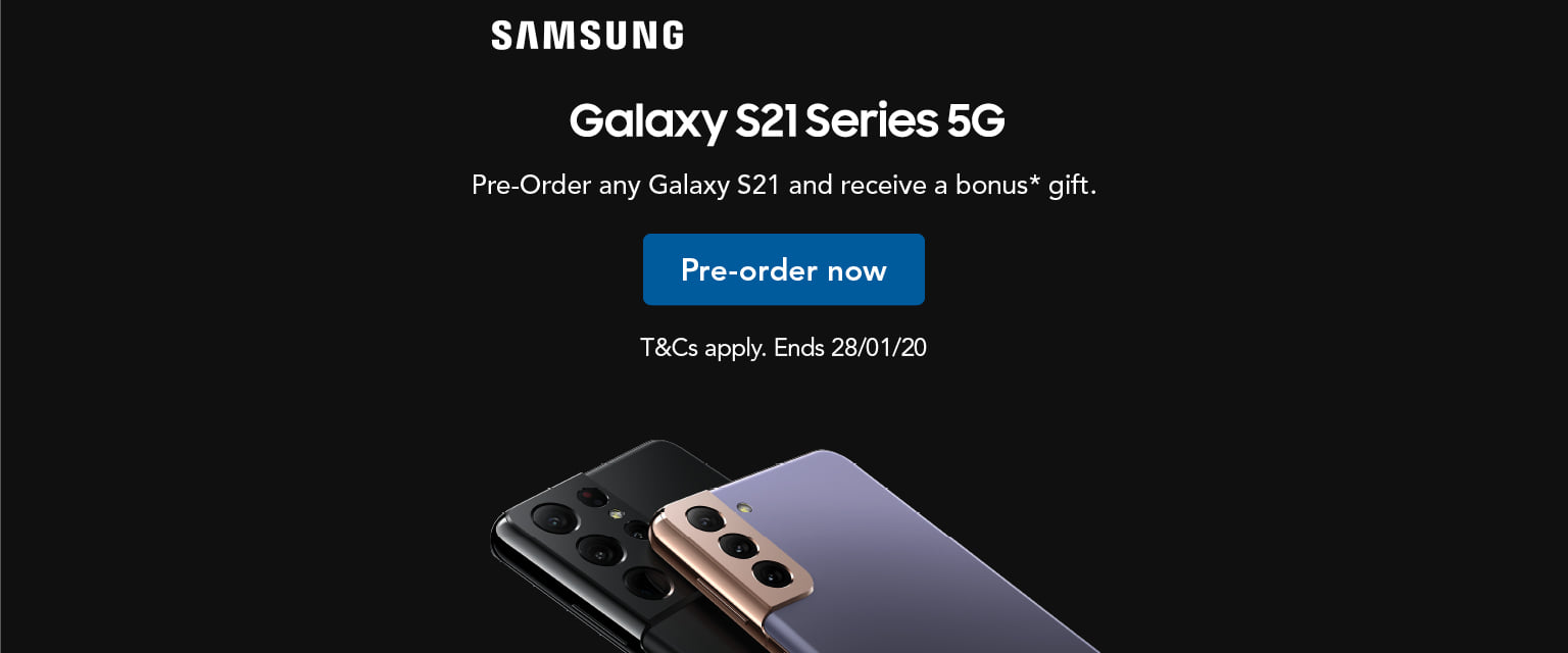 Pre-order any Galaxy S21