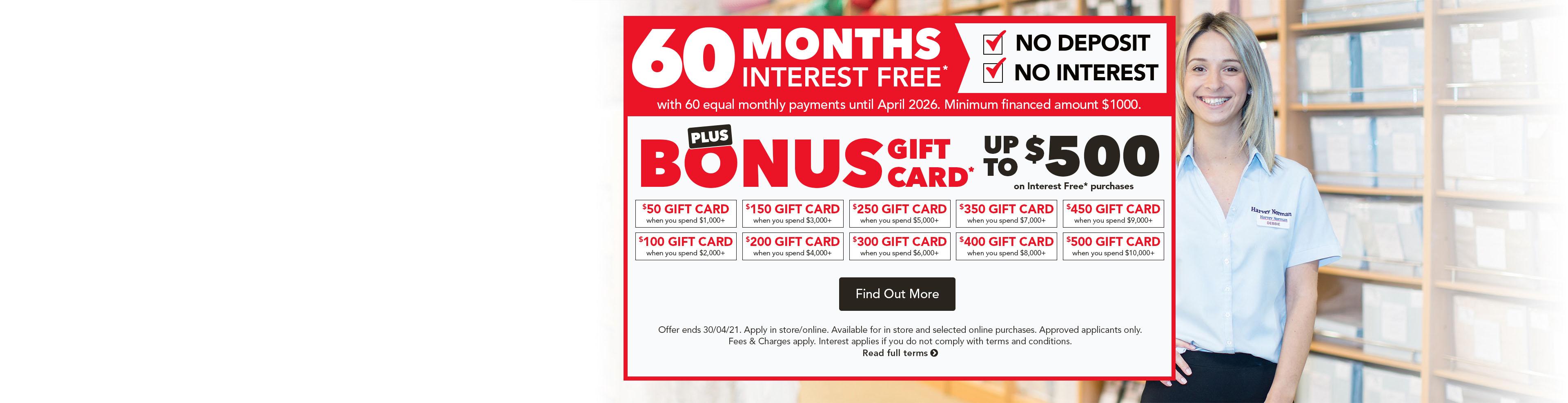 60 Months Interest Free