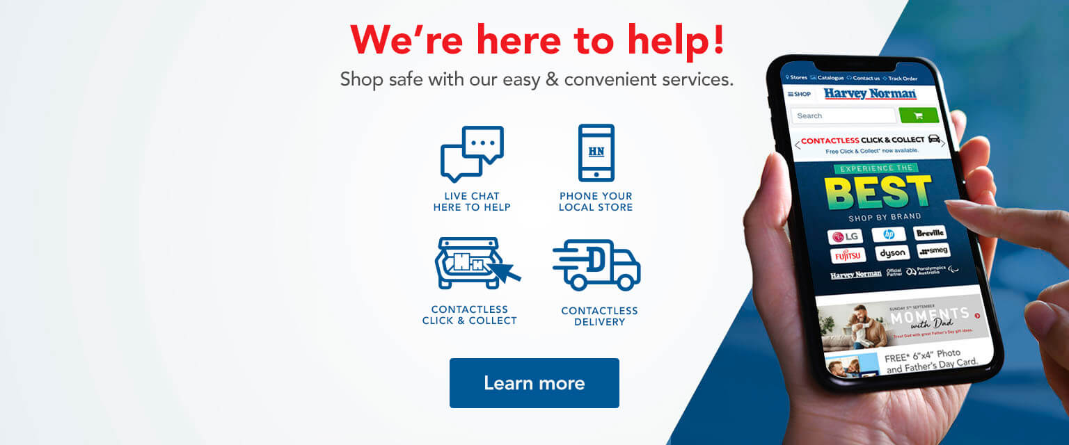 We're here to help! Shop safe with our easy and convenient services.