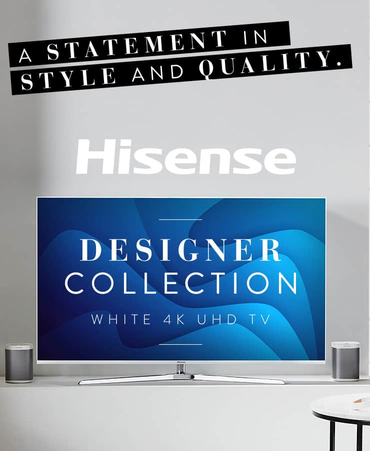 Hisense Designer Collection - White 4k UHD TV