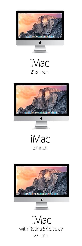 Compare iMacs