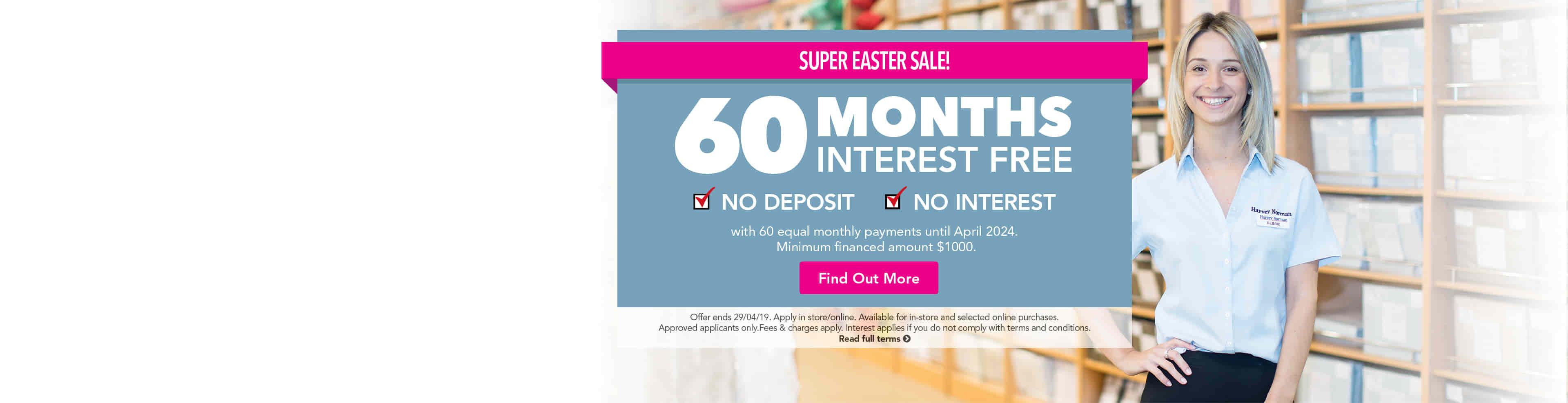 60 months interest free harvey norman