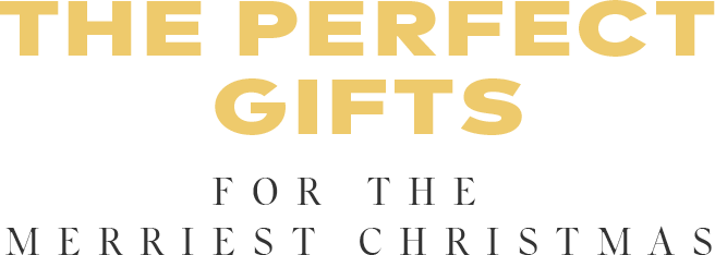 the perfect gifts for the merriest Christmas