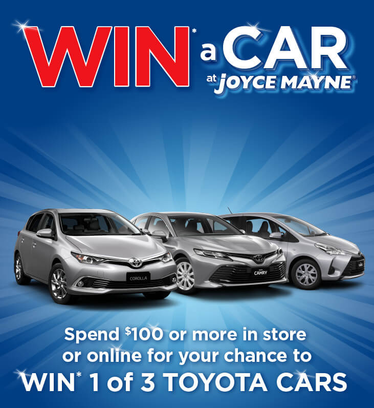 Win a Car at Joyce Mayne